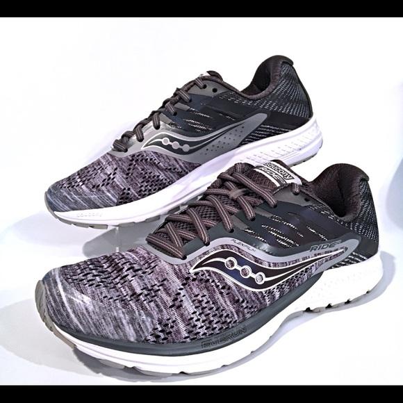 2ed78f9e Men's Saucony Ride 10 Gray Running Shoes New $120